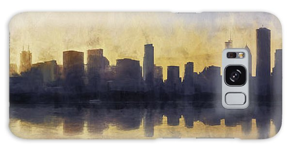 Chicago Art Galaxy Case - Fire In The Sky Chicago At Sunset by Scott Norris