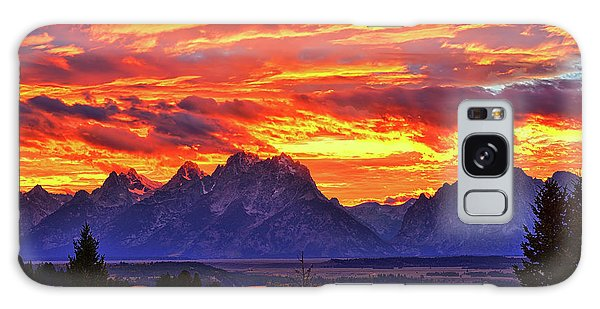 Fire In The Teton Sky Galaxy Case