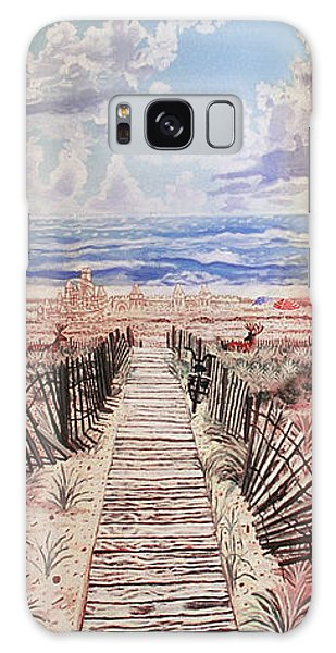 Fire Island Walkway To The Beach Galaxy Case by Bonnie Siracusa