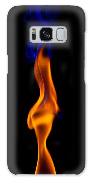 Fire Lady Galaxy Case by Gert Lavsen