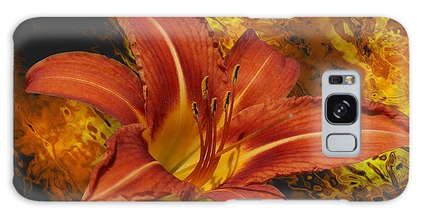 Fire Lilly Galaxy Case by Rick Friedle