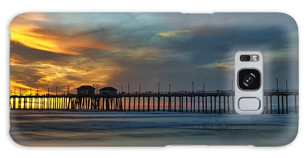 Fire On The Sky - Huntington Beach Pier Galaxy Case
