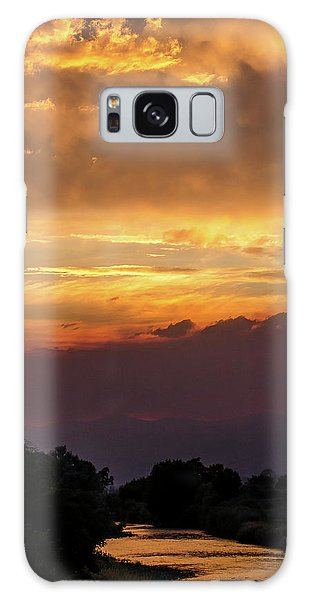 Fire Sky At Sunset Galaxy Case