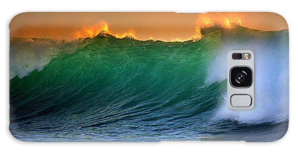 Fire Wave Galaxy Case by Lori Seaman