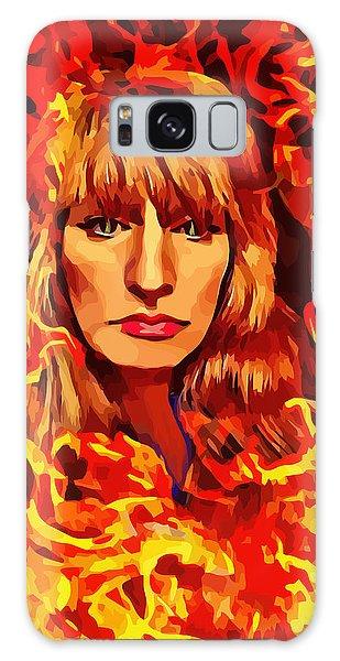 Fire Woman Abstract Fantasy Art Galaxy Case