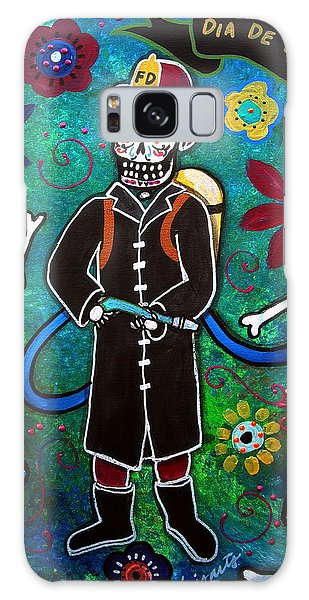 Firefighter Day Of The Dead Galaxy Case by Pristine Cartera Turkus