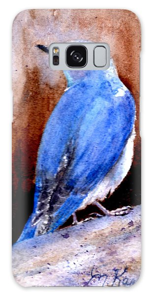 Firehole Bridge Bluebird - Male Galaxy Case