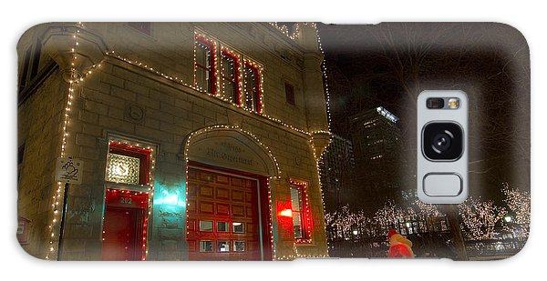 Firehouse In Xmas Lights Galaxy Case
