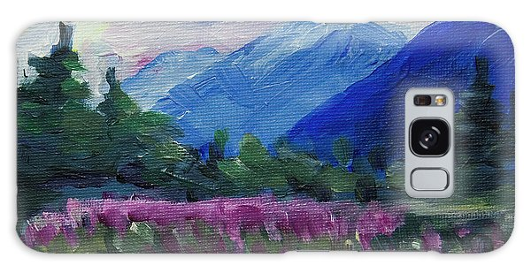 Galaxy Case featuring the painting Fireweed At Outer Point Alaska by Yulia Kazansky