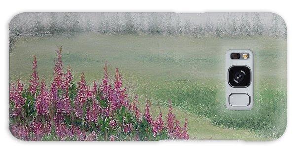 Fireweeds Still In The Mist Galaxy Case by Stanza Widen