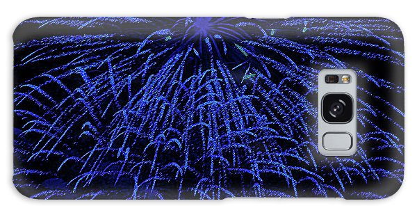 Firework Blues Galaxy Case by DigiArt Diaries by Vicky B Fuller