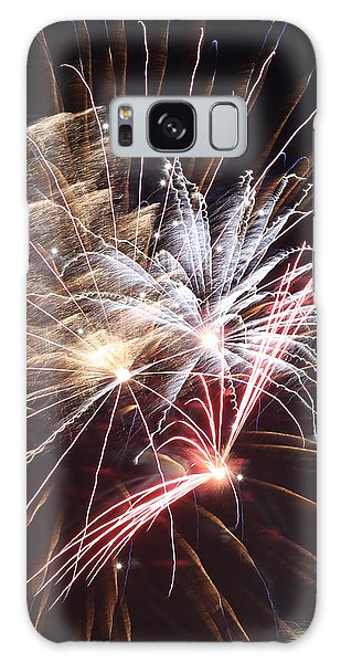Fireworks Abstract 30 2015 Galaxy Case by Mary Bedy