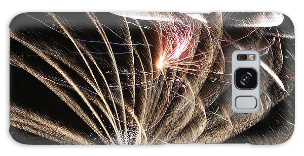 Fireworks Abstract 35 2015 Galaxy Case by Mary Bedy