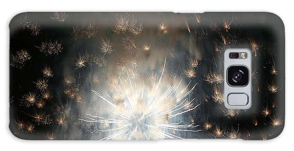 Fireworks Abstract 40 2015 Galaxy Case by Mary Bedy