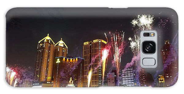 Fireworks Along The Love River In Taiwan Galaxy Case by Yali Shi