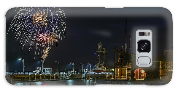Fireworks And 17th Street Docks Galaxy Case