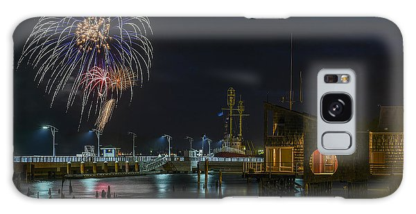 Fireworks And 17th Street Docks Galaxy Case