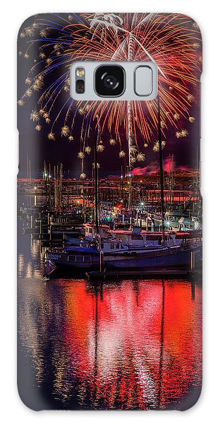 Fireworks At The Docks Galaxy Case