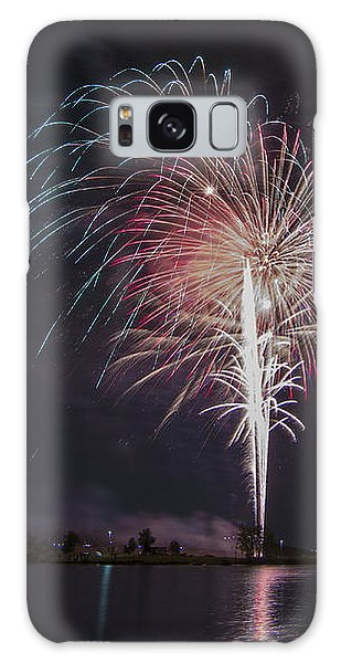 Fireworks Display On The Lake Galaxy Case
