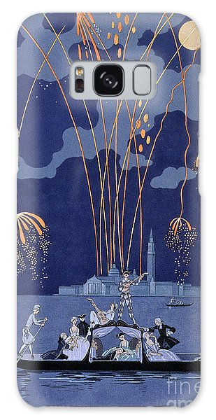 Fireworks Galaxy Case - Fireworks In Venice by Georges Barbier