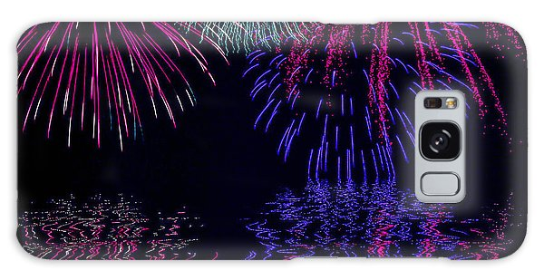 Fireworks Over Open Water 1 Galaxy Case by Naomi Burgess