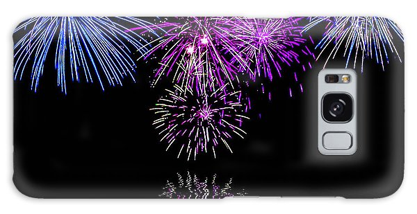 Fireworks Over Open Water 2 Galaxy Case by Naomi Burgess
