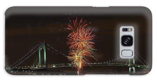Fireworks Over The Verrazano Narrows Bridge Galaxy Case