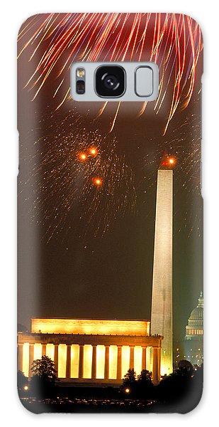 Fireworks Over Washington Dc Mall Galaxy Case