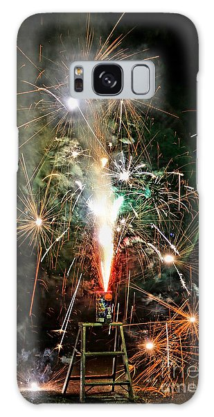 Fireworks Galaxy Case by Vivian Krug Cotton