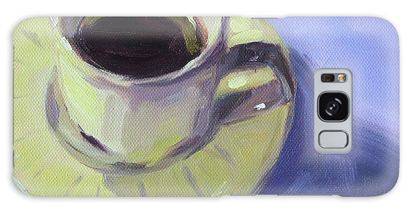Galaxy Case featuring the painting First Cup by Nancy Merkle
