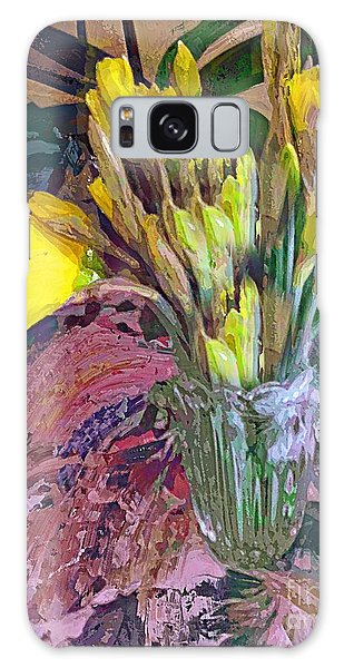 First Daffodils Galaxy Case by Alexis Rotella