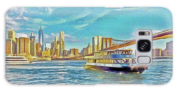 Galaxy Case featuring the digital art First East River Ferry Of The Day by Digital Photographic Arts