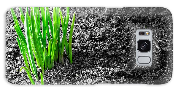 First Green Shoots Of Spring And Dirt Galaxy Case