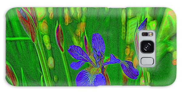 First Iris To Bloom Galaxy Case by Dennis Lundell