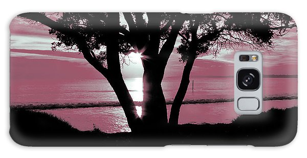 First Light - Pink Galaxy Case by Karen Lewis