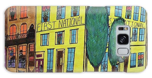 First National Hotel. Historic Menominee Art. Galaxy Case by Jonathon Hansen