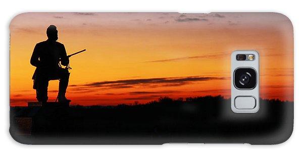 First Pennsylvania Cavalry Sunrise Gettysburg Galaxy Case by Randy Steele