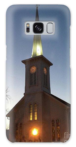 First Presbyterian Churc Babylon N.y After Sunset Galaxy Case