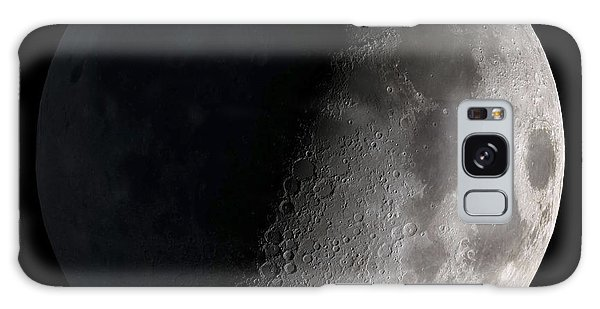 Galaxy Case featuring the photograph First Quarter Moon by Stocktrek Images