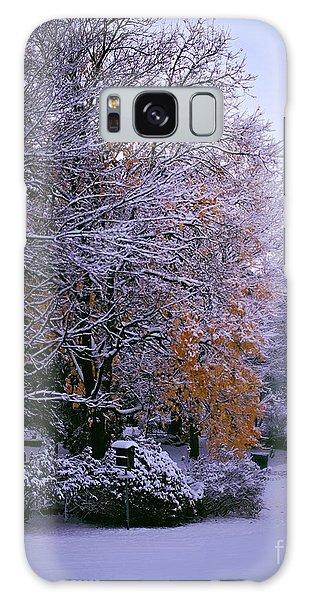 First Snow After Autumn Galaxy Case