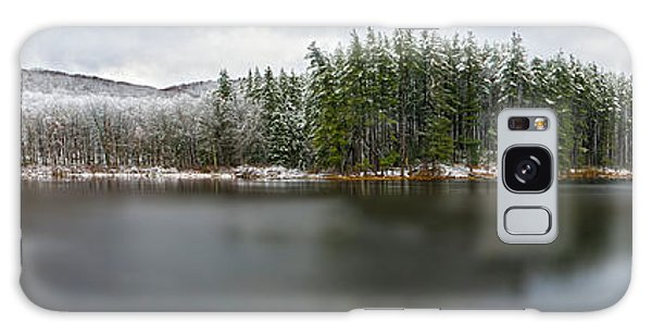 First Snow At Lake Nawahunta Galaxy Case by Angelo Marcialis