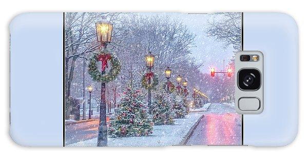 Wellsboro Galaxy Case - First Snow On Main Street by Bernadette Chiaramonte