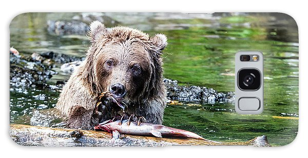 Grizzly Bears Galaxy Case - Fish At The Dinner Table by Ian Stotesbury