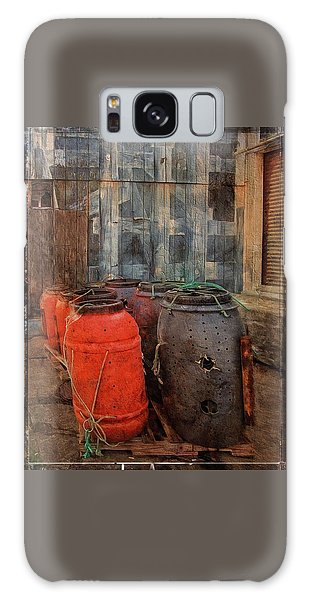 Galaxy Case featuring the photograph Fish Barrels by Thom Zehrfeld