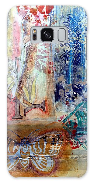 Galaxy Case featuring the mixed media Fish Collage #1 by Rose Legge