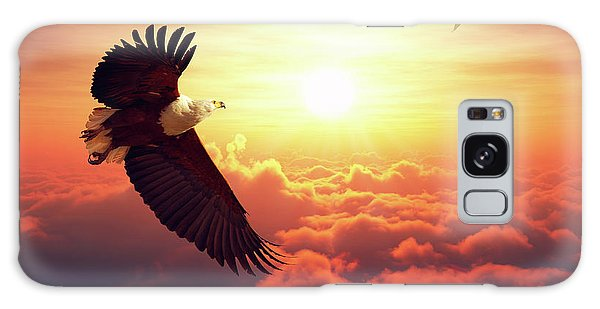 Eagle Galaxy S8 Case - Fish Eagle Flying Above Clouds by Johan Swanepoel