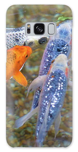 Fish Fighting For Food Galaxy Case