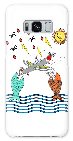 Fish Food Galaxy Case by Methune Hively