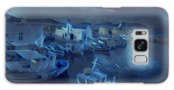 Fish Harbour Paros Island Greece Galaxy Case