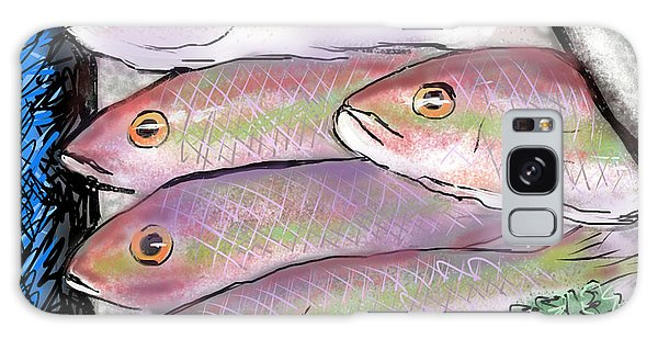 Fish Market Galaxy Case by Jean Pacheco Ravinski